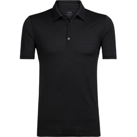 Icebreaker Tech Lite Poloshirt korte mouwen Heren, black